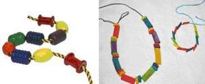 beads and pasta