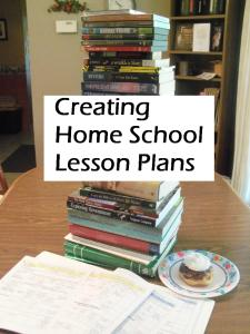 Creating Home School Lesson Plans